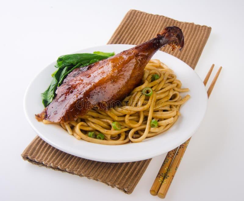 Alimento de Ásia do macarronete do pato imagem de stock royalty free