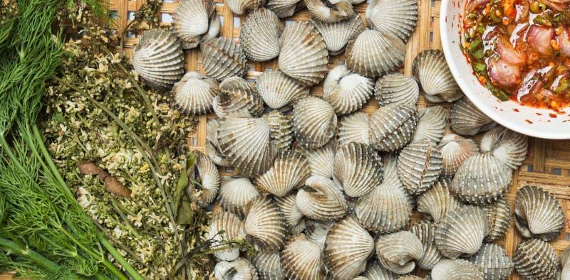 Alimento de balanço do marisco fotografia de stock royalty free