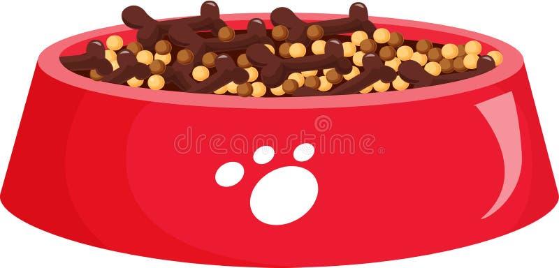 Alimento de cão ilustração stock