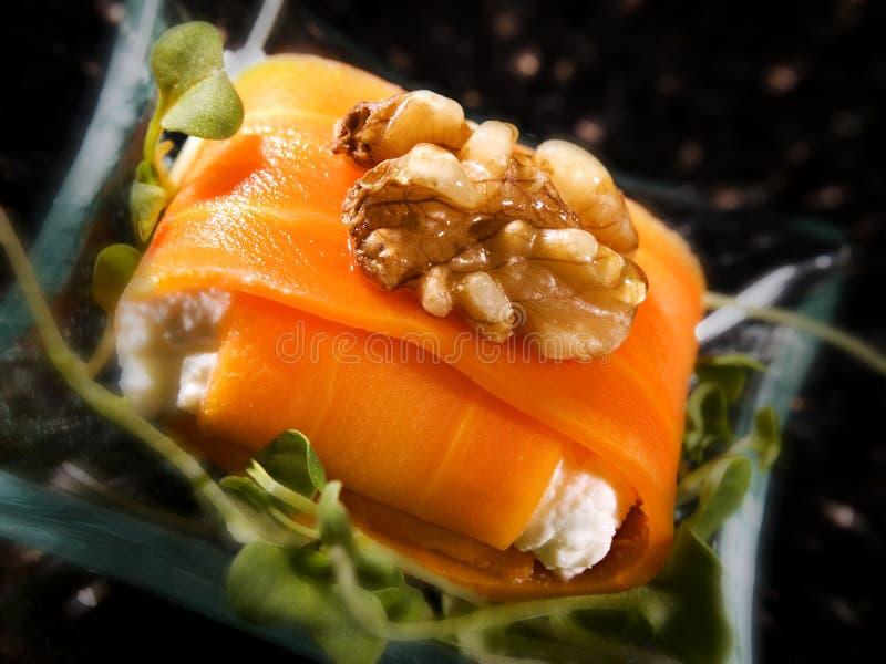 Alimento de color salmón creativo A imagen de archivo libre de regalías