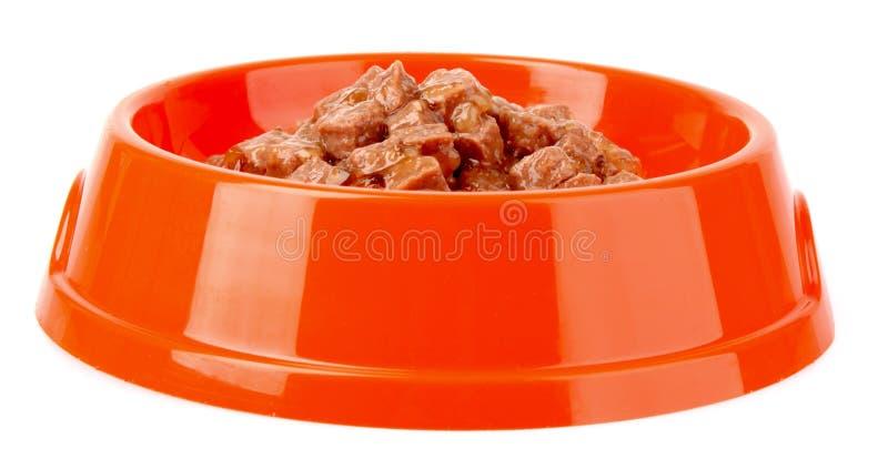 Alimento de gatos isolado fotos de stock