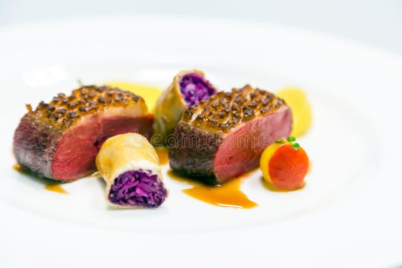 Alimento de gourmet delicioso fotos de stock royalty free