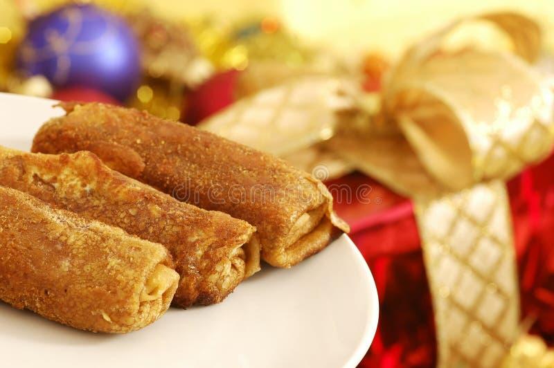 Alimento de la Navidad foto de archivo