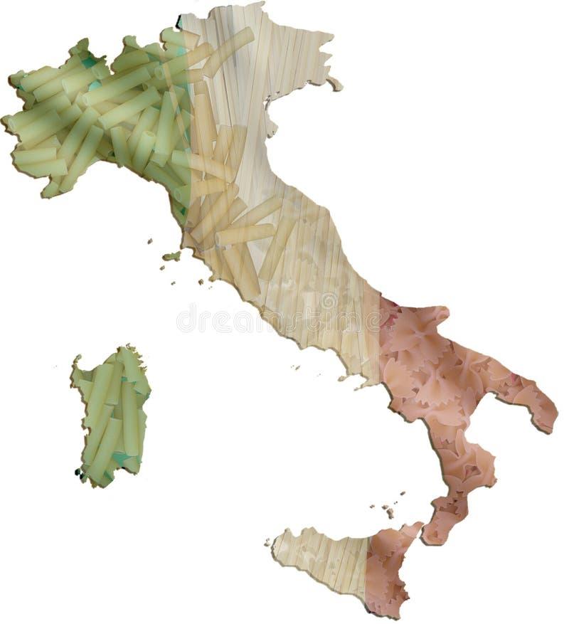 Alimento de las pastas de Italia stock de ilustración
