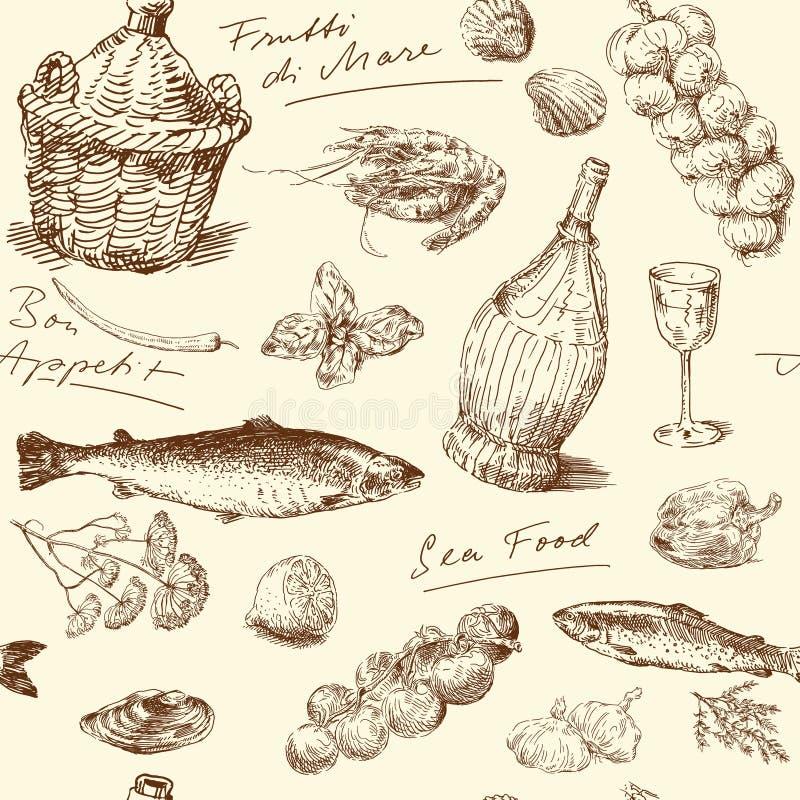 Alimento de mar libre illustration