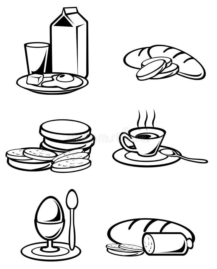 Alimento de pequeno almoço ilustração royalty free