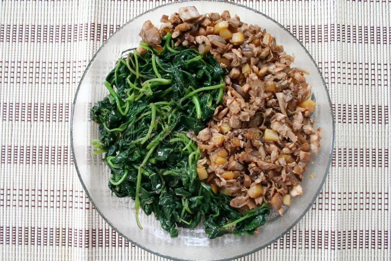 Alimento de Yin Yang imagem de stock