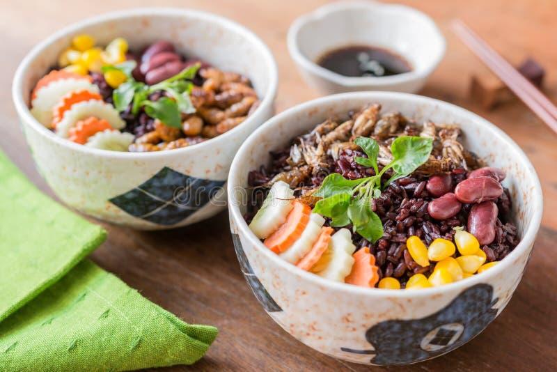 Alimento degli insetti con la bacca del riso fotografie stock libere da diritti