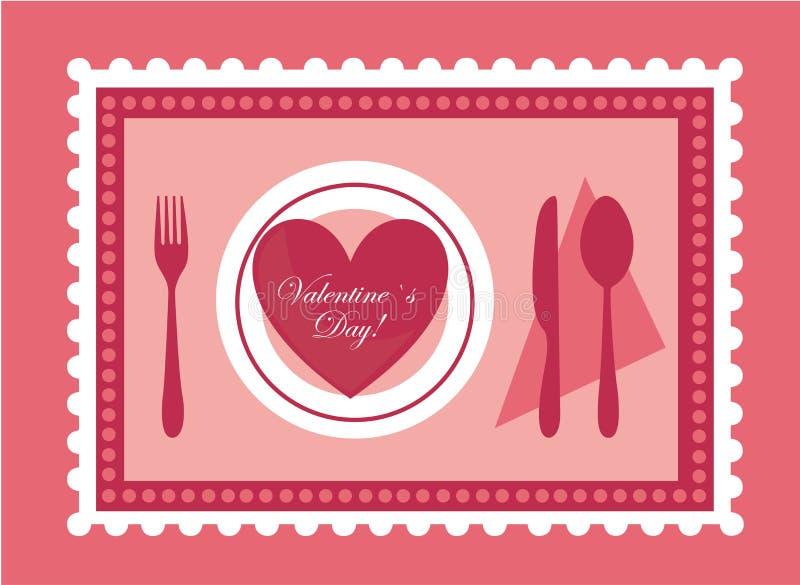 Alimento dei biglietti di S. Valentino illustrazione di stock