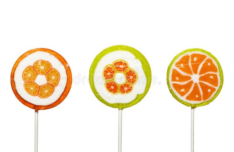 Alimento dei dolci della caramella di Lollypop immagine stock