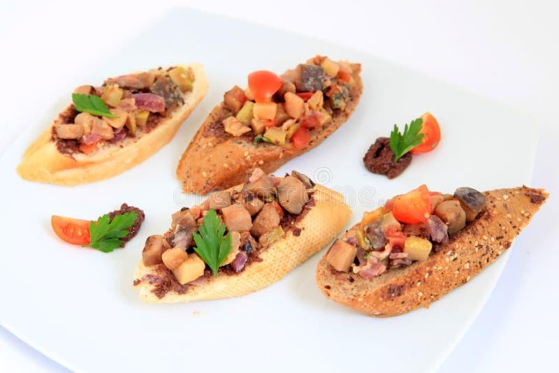 Alimento dei Tapas panini fotografia stock