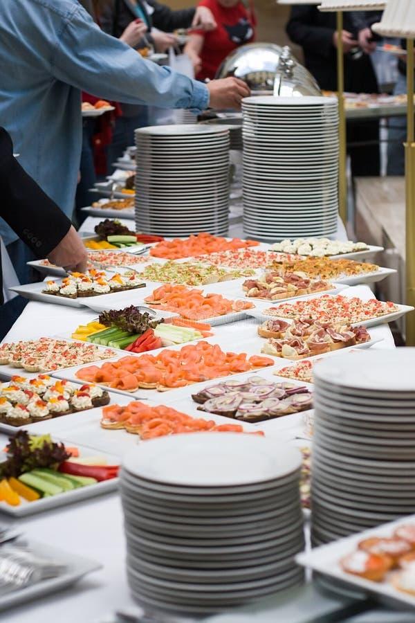 Alimento del buffet immagini stock libere da diritti