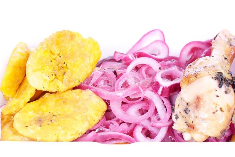 Alimento del local del Dominican fotografia stock libera da diritti