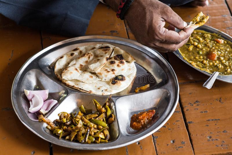 Alimento del locale dell'India immagini stock libere da diritti
