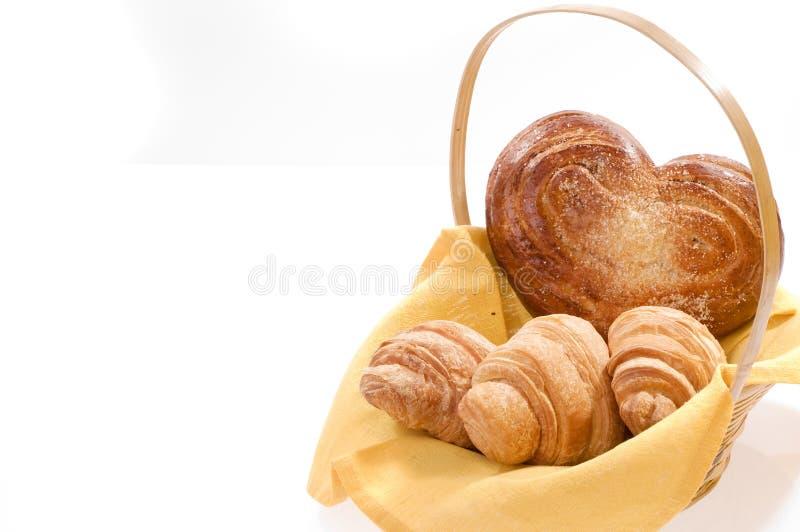 Alimento del pane in un cestino fotografia stock