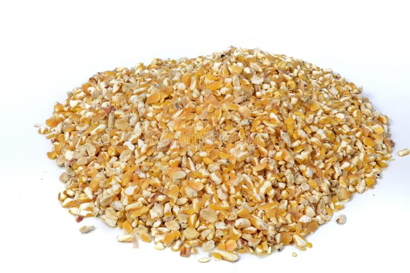 Alimento del partito del cereale per i polli fotografie stock