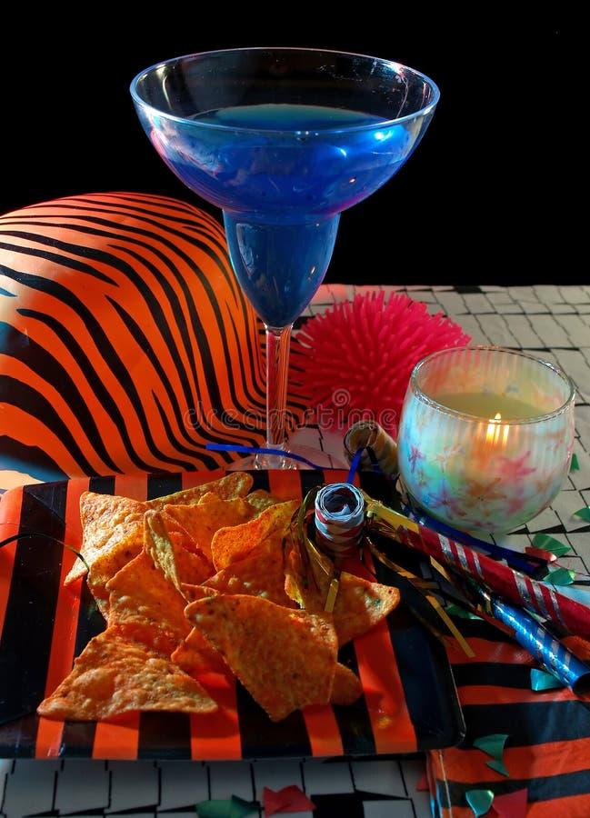 Alimento del partito di nuovo anno fotografie stock