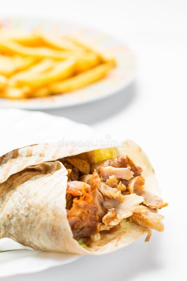Alimento del turco de Doner Kebab foto de archivo libre de regalías