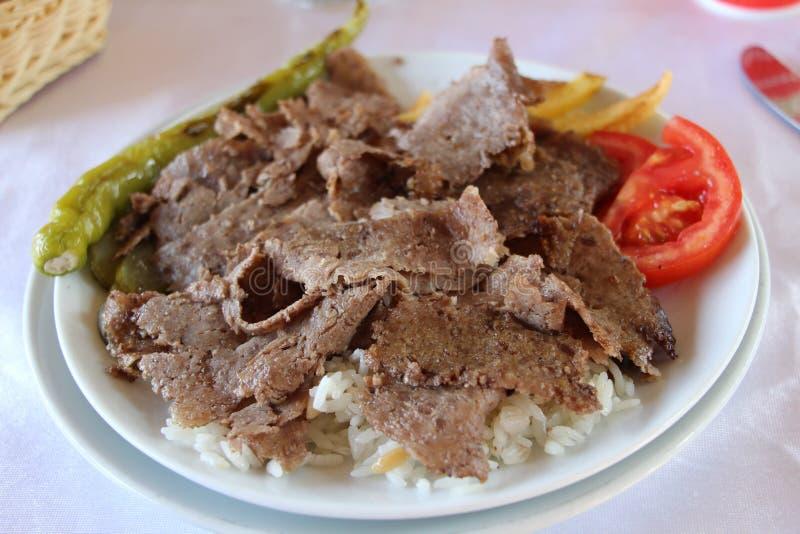 Alimento del turco de Doner Kebab imagenes de archivo