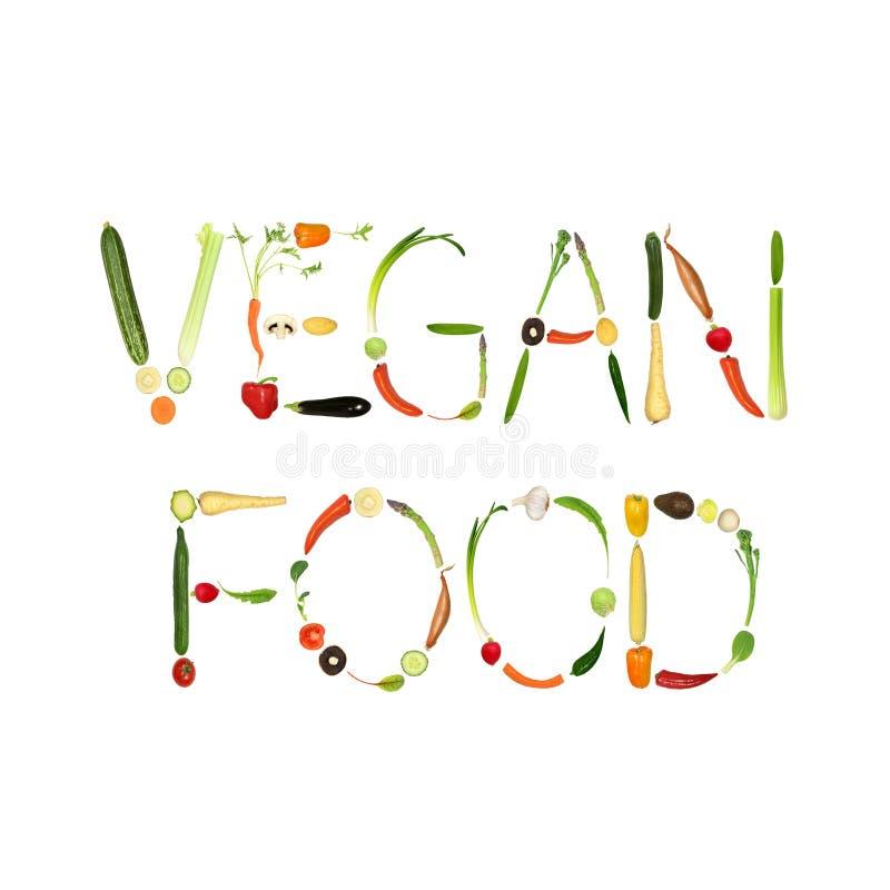 Alimento del vegano ilustración del vector