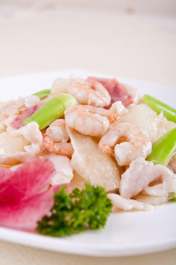 Alimento delicioso de China--camarão foto de stock