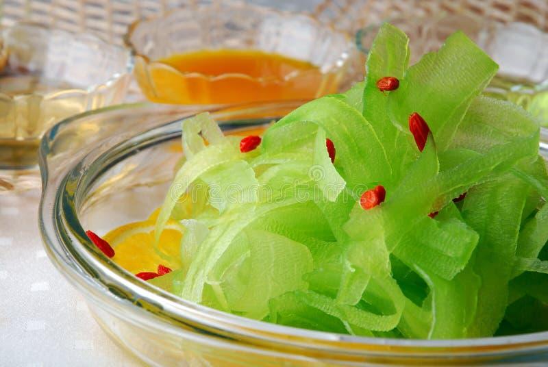 Alimento delicioso de China-- ensalada de la pera de bálsamo foto de archivo libre de regalías