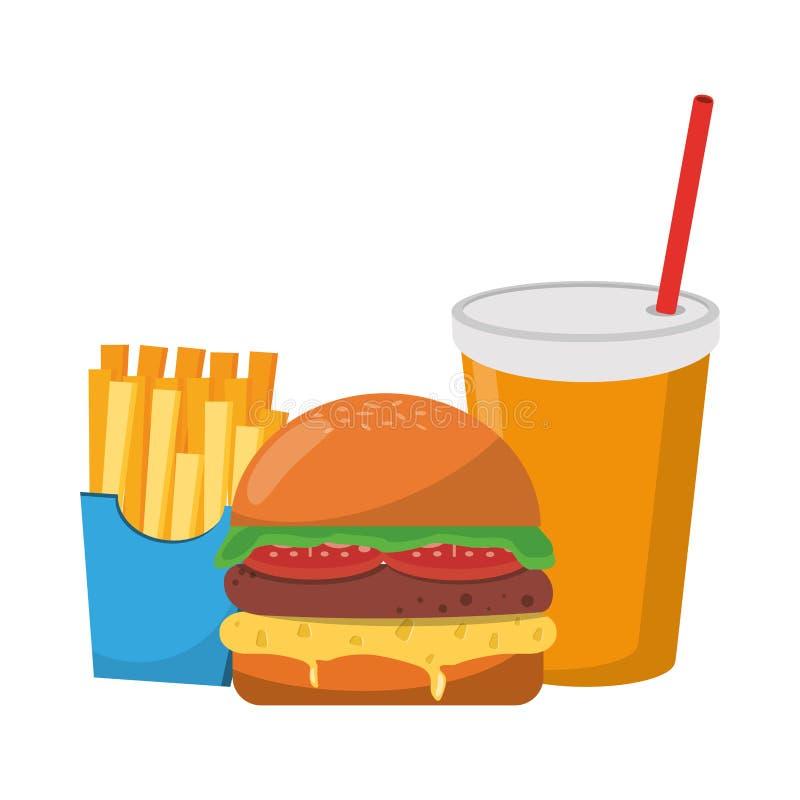 Alimento delizioso degli alimenti a rapida preparazione royalty illustrazione gratis