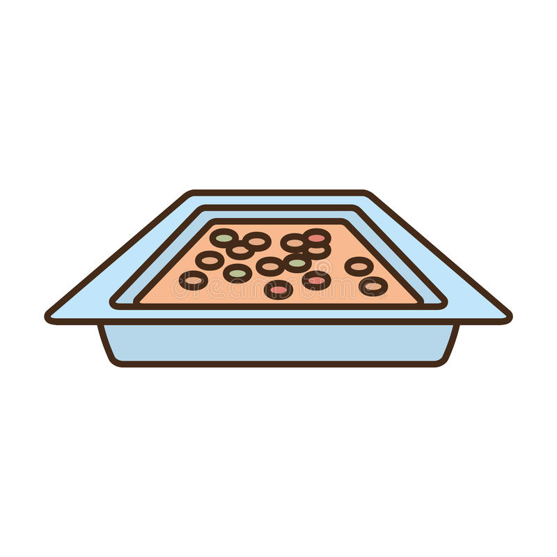 Alimento delizioso del fornello del vaso royalty illustrazione gratis