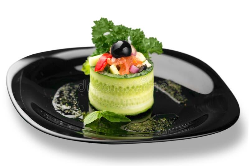Download Alimento Delizioso Del Ristorante In Piatto Isolato Sopra Fotografia Stock - Immagine di bevanda, avocado: 117979200