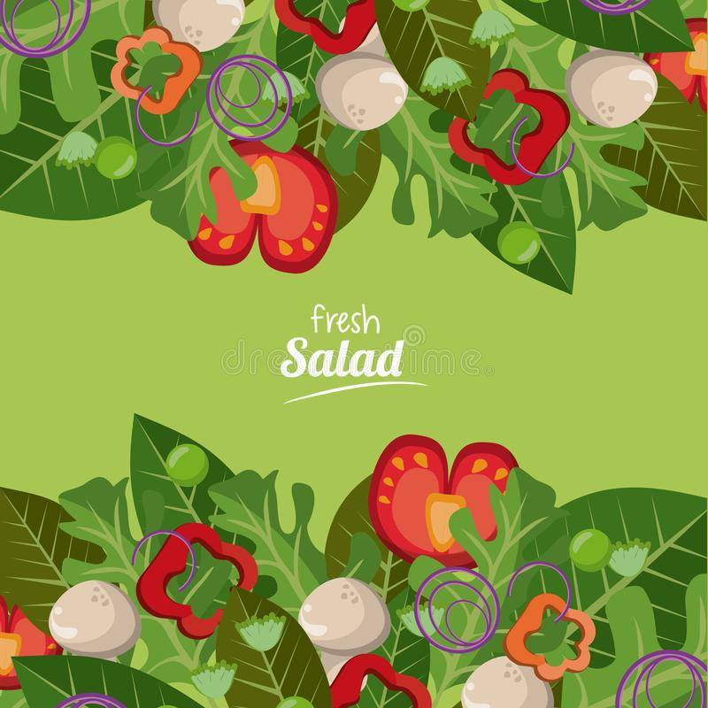 Alimento delizioso organico fresco delle verdure di insalata royalty illustrazione gratis