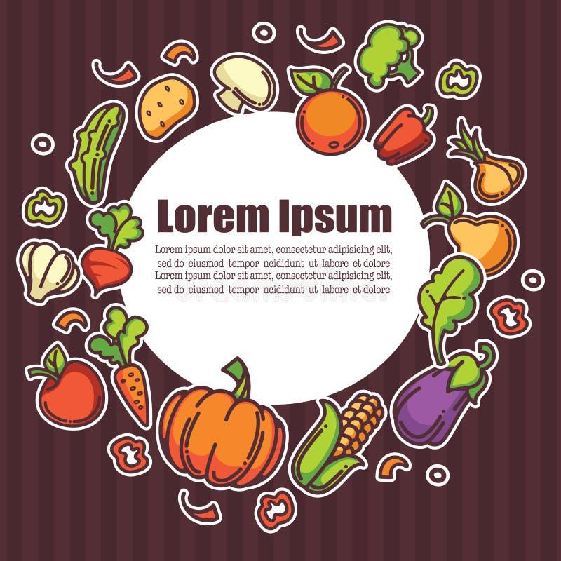 Alimento dell'azienda agricola illustrazione vettoriale