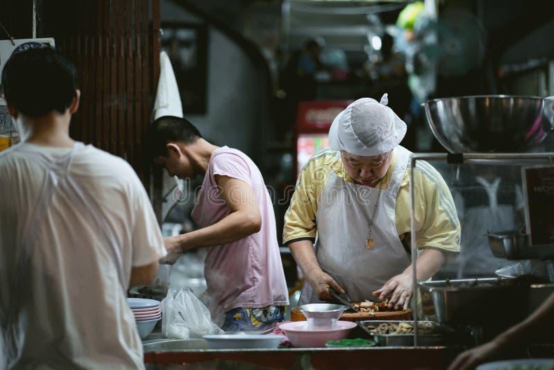 Alimento dell'UAN PochanaStreet della screpolatura di Kuai a Yaowarat fotografia stock libera da diritti