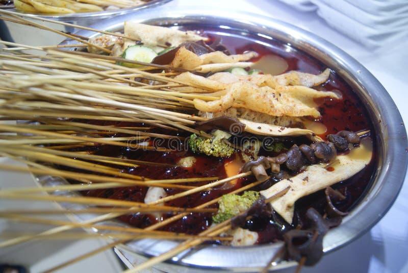 Alimento della Cina: caldo piccante fotografia stock