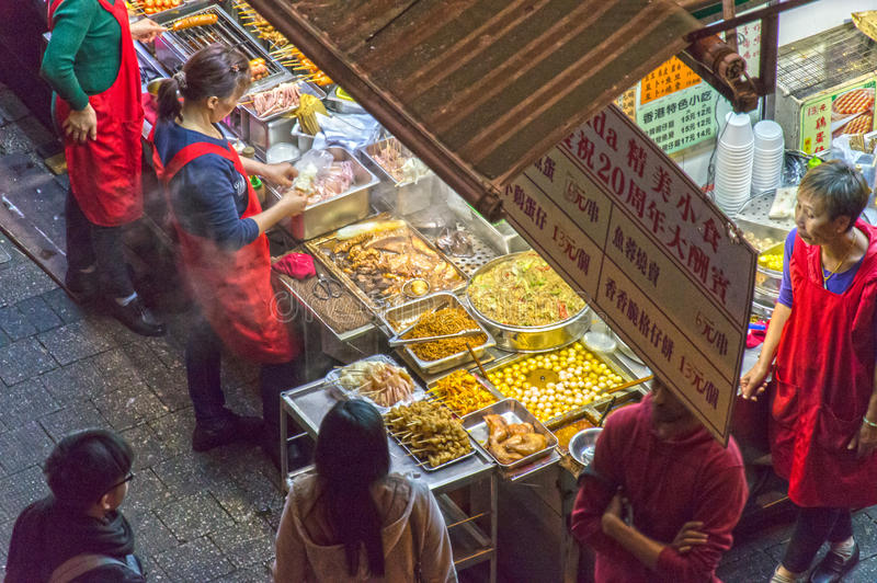 Alimento della via in Hong Kong fotografia stock