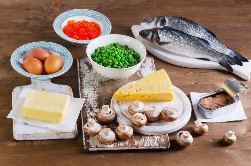 Alimento della vitamina D immagini stock libere da diritti
