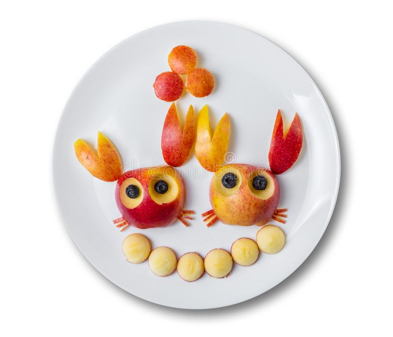 Alimento di arte per i bambini immagine stock