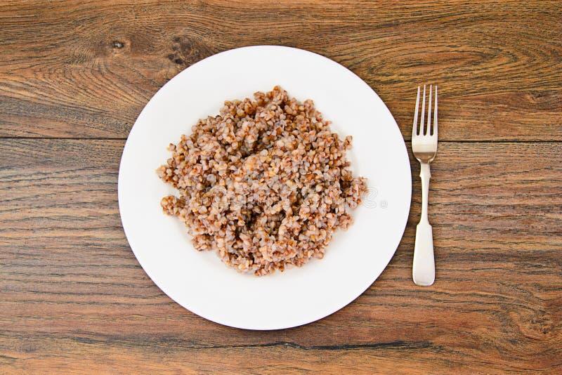 Alimento di dieta del grano saraceno immagine stock libera da diritti