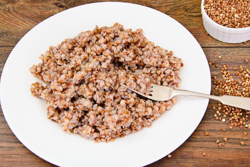 Alimento di dieta del grano saraceno fotografia stock