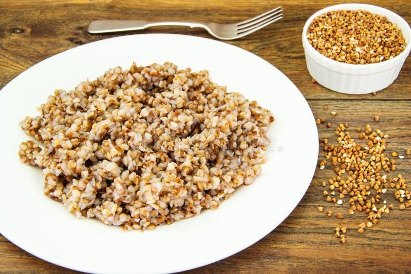 Alimento di dieta della salsiccia di spirito del grano saraceno immagine stock