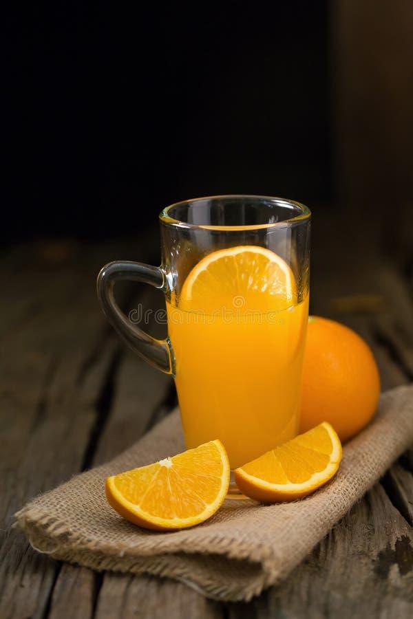 Alimento di Juice Orange Vitamin C e bevanda arancio ea sano nutriente immagine stock