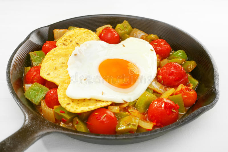 Alimento di prima colazione messicano Huevos Rancheros fotografia stock libera da diritti