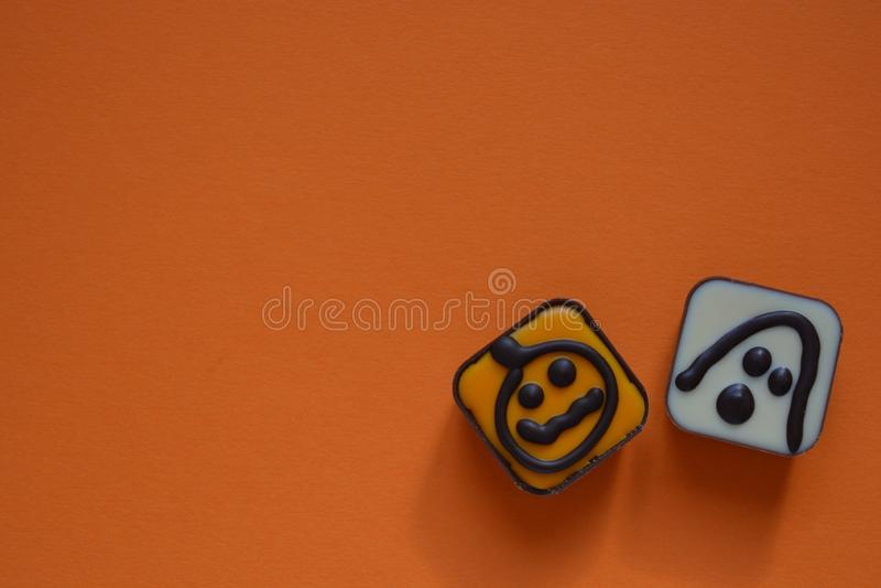 Alimento di tema, fantasma e zucca del partito di Halloween fotografia stock