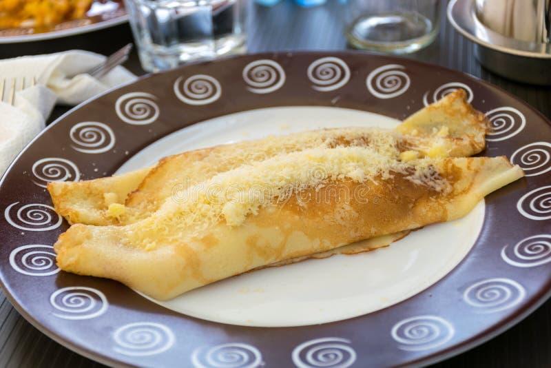 Alimento di tradizione di Russo Pancake del rotolo dolce fotografie stock libere da diritti