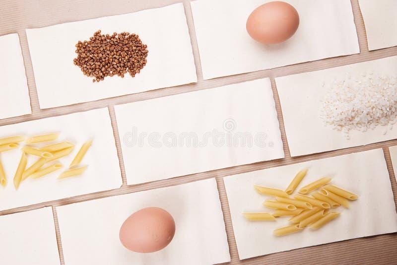 alimento diet?tico Um grupo de produtos diet?ticos imagens de stock royalty free