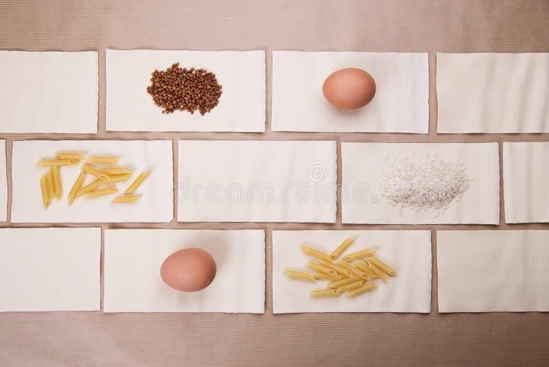 alimento dietetico Un insieme dei prodotti dietetici immagini stock libere da diritti