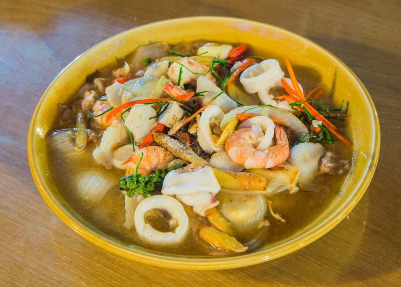 Alimento do camarão e do calamar fotos de stock