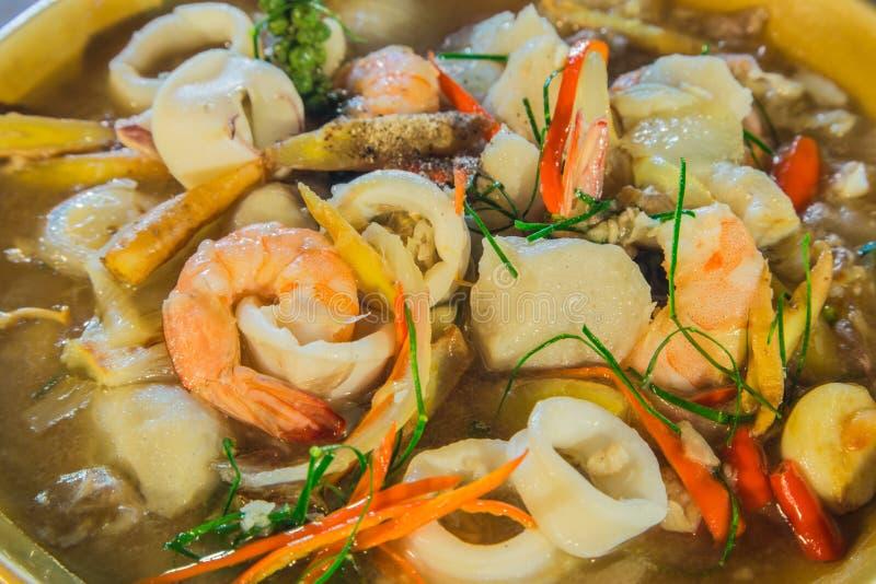 Alimento do camarão e do calamar fotos de stock royalty free