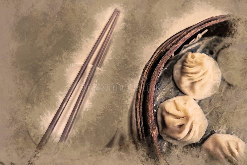 Alimento do chinês tradicional ilustração royalty free