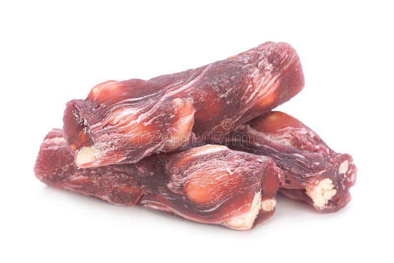 Alimento do doce da vara do loukoum imagem de stock