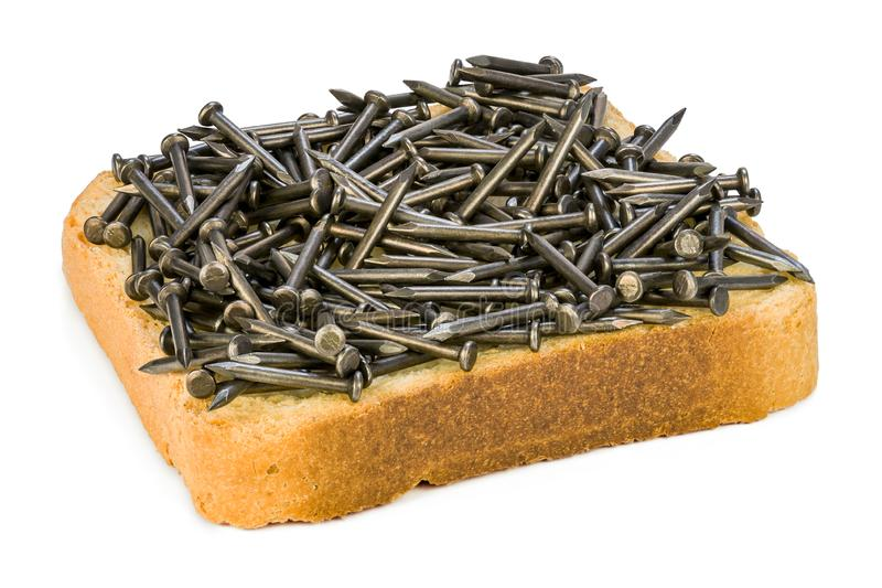 Alimento do ferro foto de stock